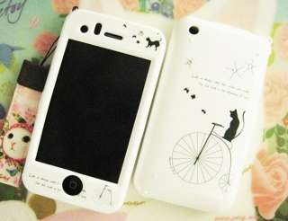 APPLE IPHONE 3G/3GS Hard Plastic Case Cover BIKE & CAT