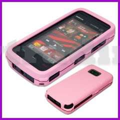 Rubberized Rubber Hard Case Cover for Nokia 5530 Pink