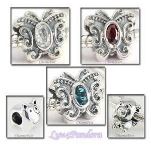 925 Sterling Silver European Bead Charm Animals Set 4