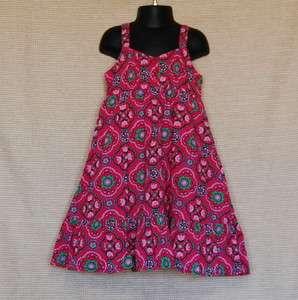 Gap Kids Girl Seaside Pink Floral Summer Dress Sundress size XS 4 5