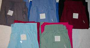 NW Lot of 2 Landau Medical Nursery Uniform Scrubs Pants Style 8320