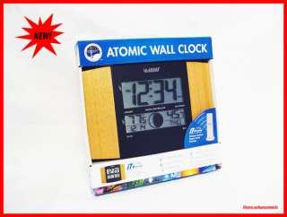 LA CROSSE ATOMIC WALL CLOCK. WS 8117 IT OAK + SENSOR