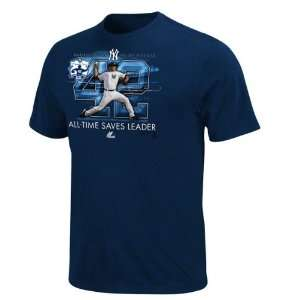 Mariano Rivera New York Yankees Majestic Navy Saves Record