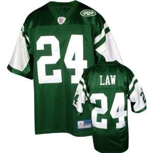 Ty Law Green Reebok NFL Premier New York Jets Jersey