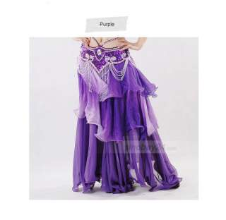 C91422 Womens Frilled Three Layered Chiffion Gradient Belly Dance