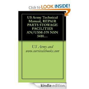 US Army Technical Manual, REPAIR PARTS STOWAGE FACILITIES AN/USM 378