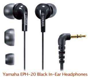 NEW Yamaha EPH 20 In Ear earbuds Headphones Black w/3 Pairs Different
