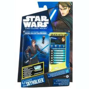 Clone Wars Galactic Battle Game ANAKIN SKYWALKER Figure & Game Card