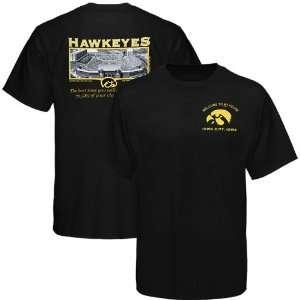 Iowa Hawkeyes Black 70,585 Friends Stadium T shirt Sports