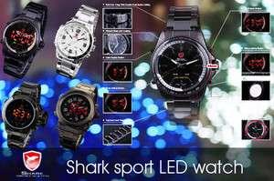 Digital Date Day Analog Stainless Steel Men Sport Quartz Watch