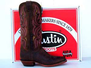 Justin Punchy Womens Dark Brown Vintage Cowgirl Boots
