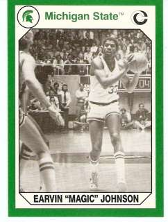 1990 Magic Johnson Michigan State Spartans card #189