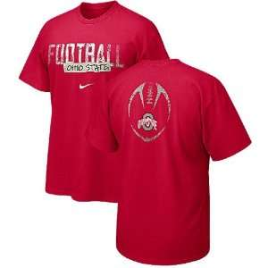 Ohio State Buckeyes Red Team Issue Nike T Shirt Sports