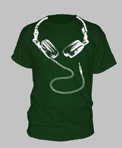 HEADPHONES ~ T SHIRT techno dj dance hip hop rap ALL SIZES AND COLORS