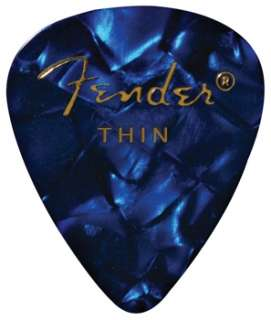 Fender Accessories 351 Premium Guitar Picks   Thin (Blu