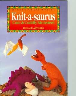 Dinosaur Knitting Pattern Book Toys Triceratops More