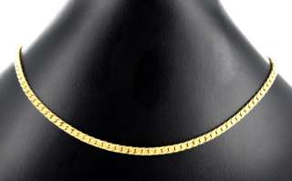 Vintage MONET herringbone chain choker Gold tone Signed
