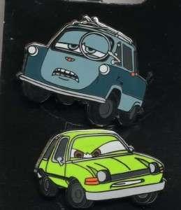 DISNEY CARS 2 PROFESSOR Z & ACER CARS 2 PIN SET NEW