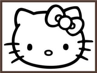 NEW QUALITY HELLO KITTY VINYL DECAL BEDROOM NURSERY WALL ART RED