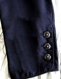 4,250 CHANEL 07C Silk CC Logo Button Fitted JACKET * FR 42 / 4   6