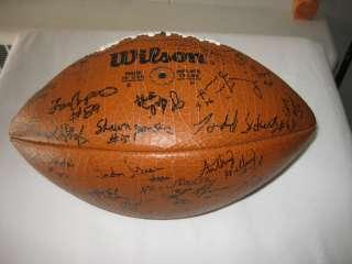 1985 ILLINOIS FIGHTING ILLINI Team Autographed Football Vintage NCAA