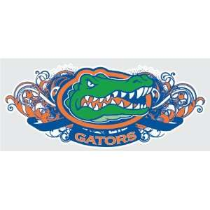 Tribal Gator Head Logo vinyl decal #1 UF Sticker