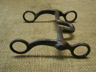 Vintage iron horse harness bit. This bit has an anchor engraved or