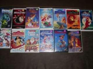 Lot 13 VHS Disney Classic Movies Lion King Little Mermaid Beaty Beast