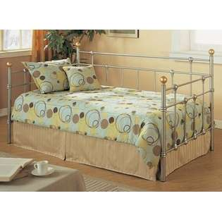 gold finish metal day bed  Poundex For the Home Bedroom Collections