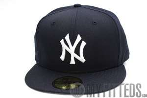 Yankees Navy Blue White Grey Brim Retro 1999 59Fifty New Era Fitted