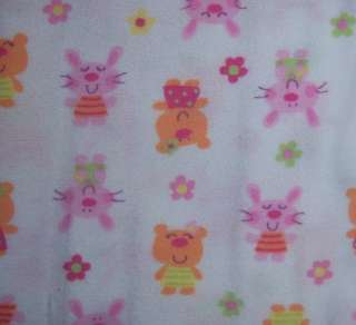 New Gerber Girls Single Flannel Receiving Blankets, Baby Shower