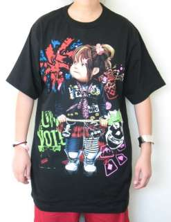 NEW TATTOO T SHIRT BABY GIRL PUNK ROCKABILLY SKULL Sz.XL