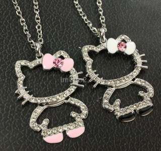 hello kitty Friends Friendship chain necklace swarovski crystal