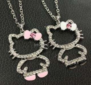 hello kitty Friends Friendship chain necklace swarovski crystal