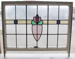 large Antique Stained Glass Window Fantastic Bloom