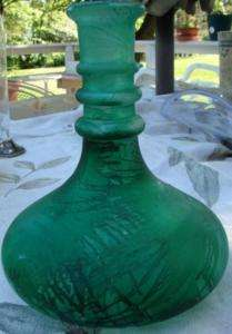 Recycled Glass Spain handmade Green glass vase Go Green