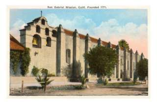 San Gabriel Mission, California Posters at AllPosters