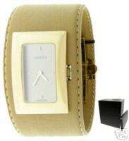 GUCCI 7800 L LADIES WATCH TAN GENUINE LEATHER STRAP