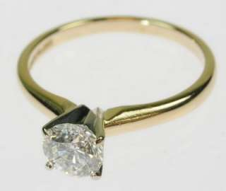 LADIE 14K YELLOW GOLD SOLITAIRE DIAMOND ENGAGEMENT RING 153153