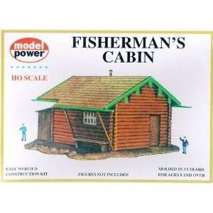 Model Power 439 HO Scale Fishermans Cabin Building Kit : Toys & Games