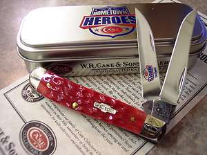 Case XX 2011 Hometown Heroes Event Knife Red Mini Trapper Wharncliff