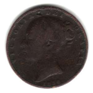 1856 UK Great Britain England Farthing Coin KM#725   Queen Victoria