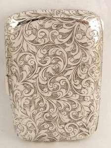 ANTIQUE HALLMARKED STERLING SILVER CIGARETTE CASE   1902   JOHN EDWARD