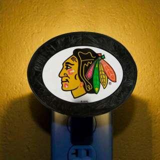 NHL   Chicago Blackhawks Art Glass Night Light