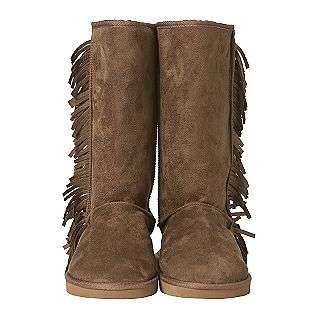 Faux Suede Slipper Boot With Fringe  Olivia Miller Shoes Womens