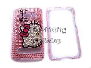 Hello kitty Rhinestone Bling Case Cover for HTC EVO 4G