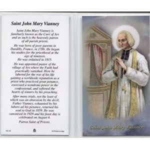 Saint John Mary Vianney Laminated Holy Card (Religious Art