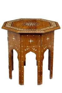 19TH CENTURY ANTIQUE ANGLO INDIAN INLAID STAND |