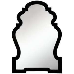 Cooper Classics Harrison Wall Mirror in Glossy Black Decor