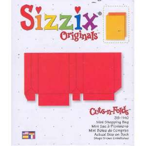 Sizzix Originals MINI SHOPPING BAG Die RED 38 1140: Home